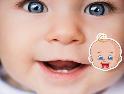 Bambino con due dentini