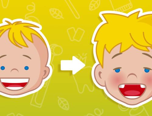 Bambino con denti rotti