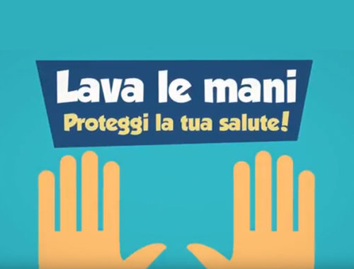 Lava le mani proteggi la salute.