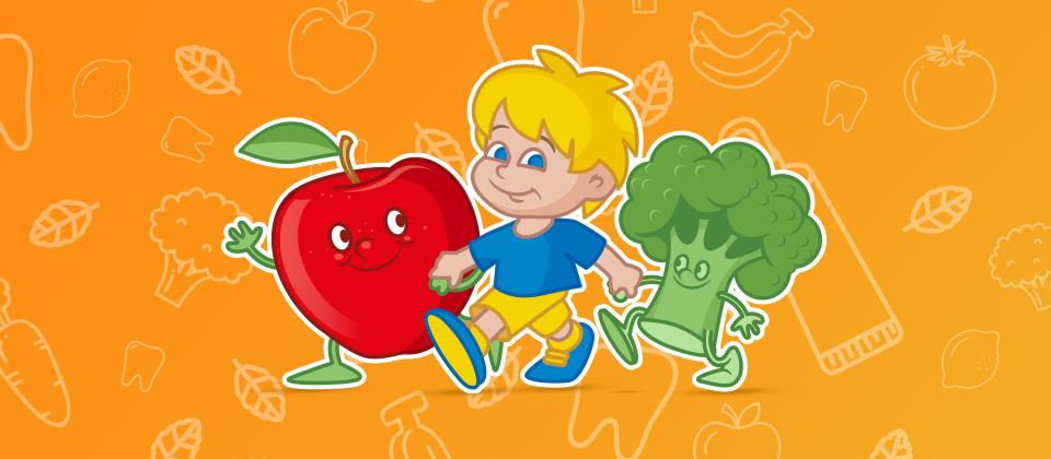 Bambino e verdure