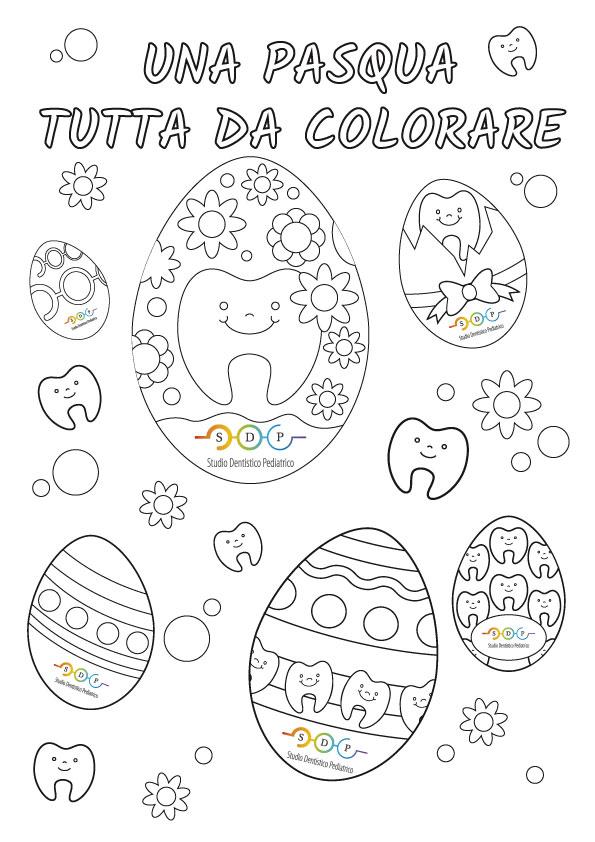 Libro da colorare per Pasqua